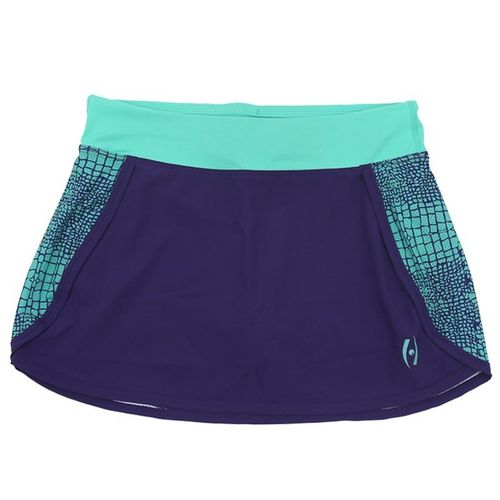 WOMEN'S FUEL SKORT, Purple-Aqua Reptile